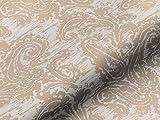 Saum & Viebahn GmbH & Co. KG Dekostoff Gardinenstoff Vorhangstoff Aladin Blumenmuster beige Meterware für Gardinen, Vorhänge, Kissen und mehr, Blickdicht, lichtdurchlässig, Polyester, Baumwolle