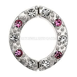 Argent non Piercing Nipple Clamp - Rose de bijoux