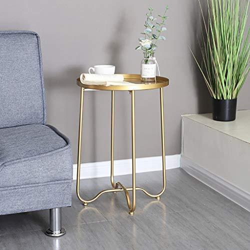 Mesas decorativas doradas for espacios pequeños Mesas de sofá Sala ...