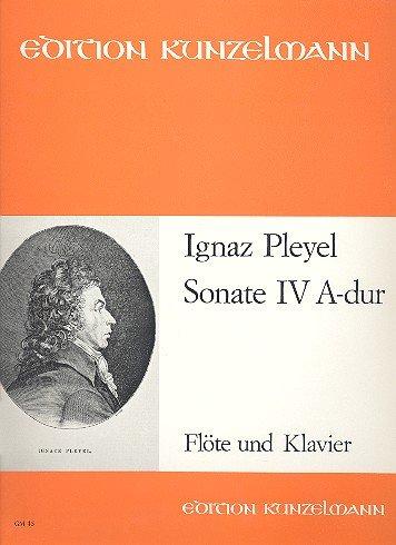 Sonate A-Dur Nr.4: für Flöte und Klavier (Klavier Und Flöte Sonaten Für Vier)