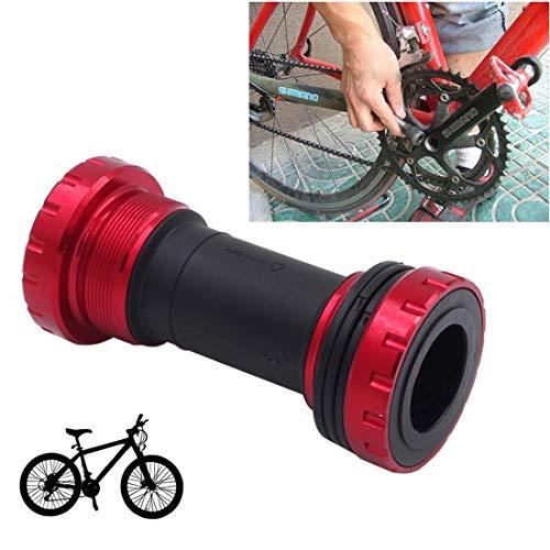 Lanbinxiang@ Alliage de Bicyclette en Plastique, Support en Aluminium de 68 à 73 mm, adapté à Shimano, vélo de Montagne. sécurité (Couleur : Rouge)