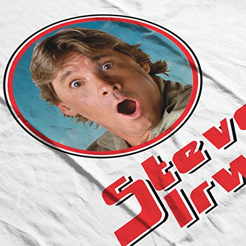 Steve Irwin Crocodile Hunter Retro Photo Frame Women's Vest White