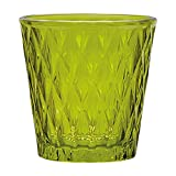 Annastore 6 x Teelichtglas mit toller Glasmusterung grün Ø 7,5 cm H 7,5 cm