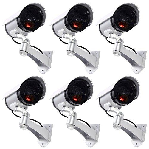 Tempo di saldi 6 telecamere di sorveglianza finte da esterno luce led lampeggiante infrarossi