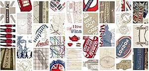 Línea hogar deco lONDON my way adhesive mini-rouleau de film adhésif autocollant décoratif, impression numérique, largeur 70 cm x longueur 1,5 m
