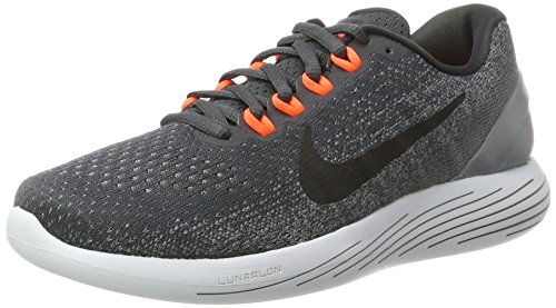 Nike Lunarglide 9, Scarpe Running Uomo Grigio (Anthracite/black-cool Grey-total Rouge Crimson)