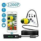 WiFi Inspektionskamera, AIZBO Wireless 8 LED USB Endoskop Megapixel 1200P/720P HD Endoskop Kamera für Samsung iPhone 7/7plus/6/6S, iPad Laptop Android/iOS/Windows