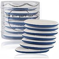 Set (7 unidades) de almohadillas de aire esponjosas multifuncionales, para maquillaje, aplicadores de base de doble uso, en seco y húmedo, con caja para cremas BB, CC y base líquida