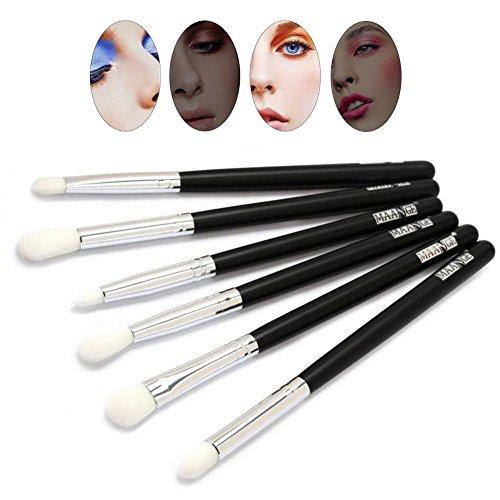 Eye Brush 2 Couleurs 6 Pcs/ensemble Maquillage Des Yeux Brosse Set Fard À Paupières Sourcils Cosmétique Outil(Silver)