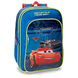 Disney 40624B1 Racing Series Mochila infantil, 40 cm, 19.2 litros, Azul