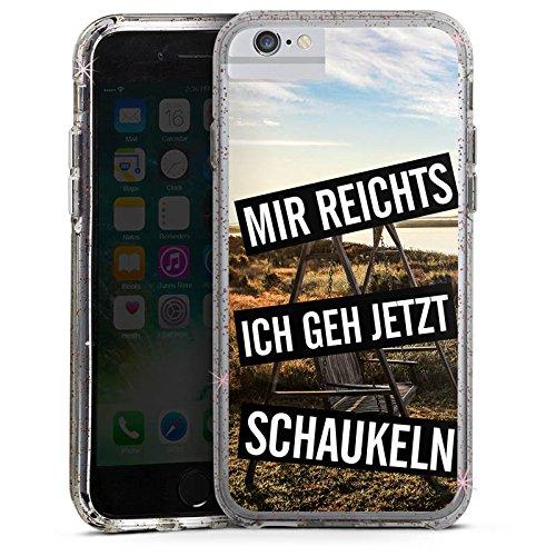 Apple iPhone 8 Bumper Hülle Bumper Case Glitzer Hülle Humor Vie Life Bumper Case Glitzer rose gold