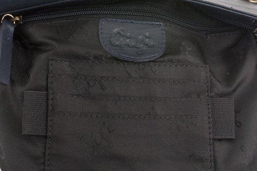Umhängetasche Leder von Gigi - GRÖßE: B: 24 cm, H: 25 cm, T: 1 cm Marine Blau