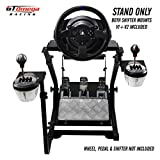 GT Omega Steering Wheel Stand PRO for Thrustmaster T300 RS Force Feedback Racing Wheel & Pedals - Playstation 4 Fanatec Clubsport Xbox PC - Tilt-Adjustable to Ultimate Gaming Console Experience