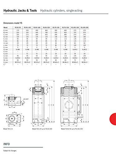 Yale AMZ1023455universale cilindro, ictus, YS100/200, 100.0T, 200mm