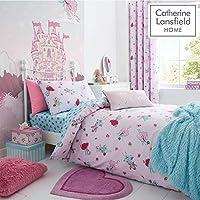 Catherine Lansfield Fairies Easy Care Single Duvet Set Pink