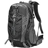 Terra Hiker Zaino Escursionismo Unisex con Parte Esterna Rimovibile, Zaino da Trekking per l'Arrampicata, il Campeggio, le Escursioni in Montagna 40L (nero)