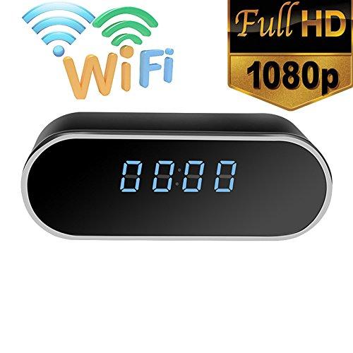 Wireless Wifi IP 1080P HD Clock mini Camera IR Security Network Web Cam DVR (Wifi-webcams)