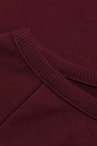 Ulla Popken Femme Grandes tailles Sweat-shirt 707569 rouge vin