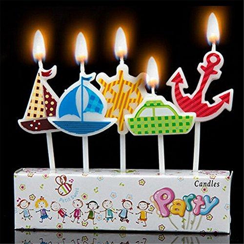 Geburtstag Kuchen Kerzen, Nautical Boote Anker Rad