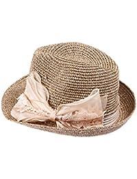 YueLian Paglia Puro Cappello di Jazz con Fiocco Donna Estivo 44f15f3f469a