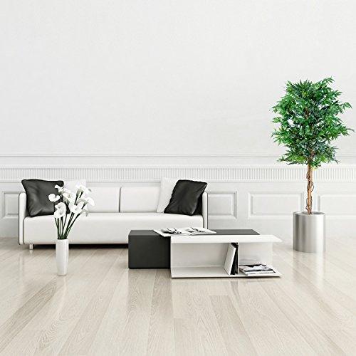 Marihuana Kunstpflanze mit Echtholzstamm Cannabis Pflanze Kunstbaum – 150 cm groß - 3