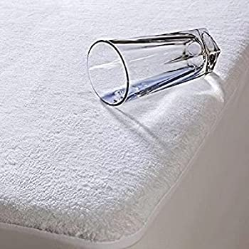 """Wake-Fit Water Proof Terry Cotton Mattress Protector - 78"""" x 72"""", King Size, White"""