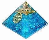 Apatite de protection, pyramide orgonite, cristaux de reiki pour guérison et chakras, décoration 65mm avec pochette