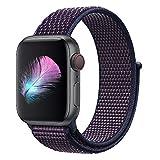 HILIMNY Für Apple Watch Armband 42MM, Nylon Armband Ersatz für iwatch Series 3, Series 2, Series 1 (Indigo, 42MM)