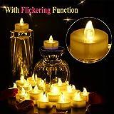 OMGAI Flackernden LED Teelichter 24 Flammenlose Warmweiß Elektrische Kerzen inkl Batteriebetriebe Test