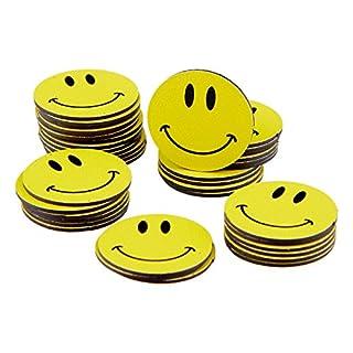 40 Smiley Magnete/Ø 2cm / z.B. als Kühlschrankmagnete, für Belohnungstafel, für Schulungen, den Unterricht.