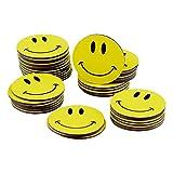 40 Smiley Magnete / Ø 2cm / z.B. als Kühlschrankmagnete, für Belohnungstafel, für Schulungen, den Unterricht..