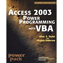 Access?2003 Power Programming with VBA by Allen G. Taylor (2003-10-31)