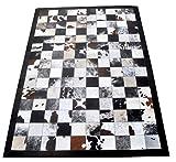 Zerimar Kuhfell Teppich Natural Premium | Patchwork Stil | Maßnahmen: 70x140 cms | Teppich Schlafzimmer | Teppich Schlafzimmer Vintage | Teppich Design Modern