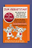 Grußkarte Geburtstag Karte Humor Applikation Button Je Oller, je Doller C6