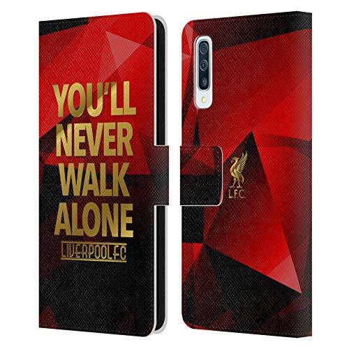Head Case Designs Offizielle Liverpool Football Club Rot Geo YNWA Simpel Liver Bird YNWA PU Leder Brieftaschen Huelle kompatibel mit Samsung Galaxy A50/A30s (2019)