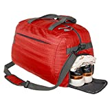 Coreal Duffle Bag Sports Gym Travel Camping Luggage Including Shoes Compartment Women & Men Red