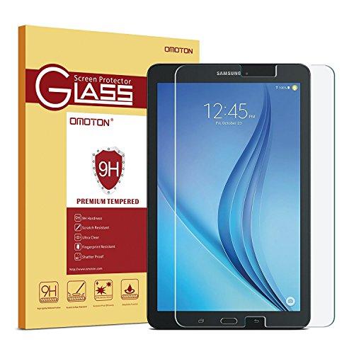 OMOTON Panzerglas Schutzfolie für Samsung Galaxy Tab E 9.6 mit [9H Härte][ Anti-Kratzen][Kristall-klar][Bläschenfrei zu Montage][lebenslange Garantie]