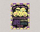 Claude16Poe Emoji Einladungen Emoji Geburtstag Einladung Kreidetafel Emoji Geburtstag Einladung Teenager Geburtstag Einladung Tween Geburtstag Einladung