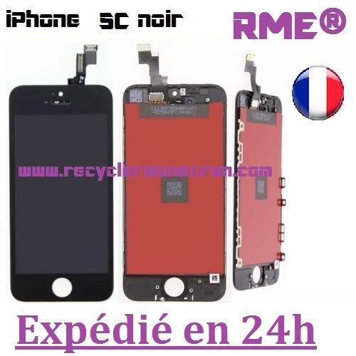 RME®–Kit réparation- Visiodirect Bildschirm für iPhone 5C Schwarz Touchscreen + LCD Display auf Keilrahmen + Werkzeuge