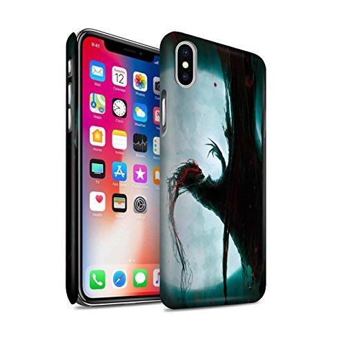 Offiziell Chris Cold Hülle / Matte Snap-On Case für Apple iPhone X/10 / Gevatter Tod Muster / Dämonisches Tier Kollektion Dramargu/Vollmond