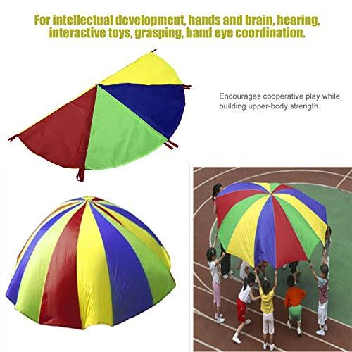 Ballylelly Kinder Kinder Spielen Regenbogen Fallschirm 8 Griffe Outdoor Spiel Übung Sport Spielzeug Für Kindheit Kinder