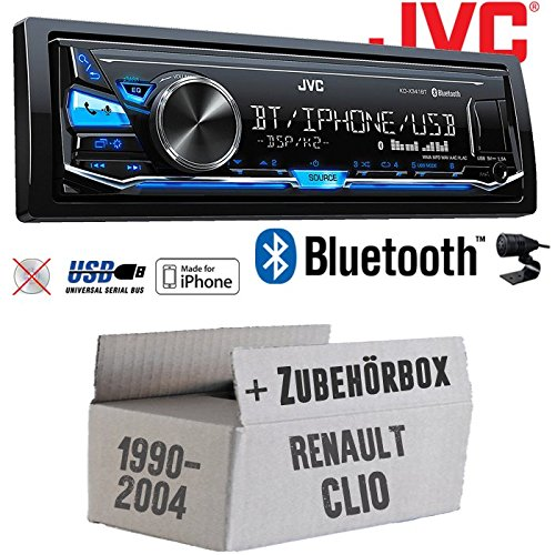 Renault Clio 1 +2 - JVC KD-X341BT - Bluetooth   MP3   USB   Android   iPhone Autoradio - Einbauset