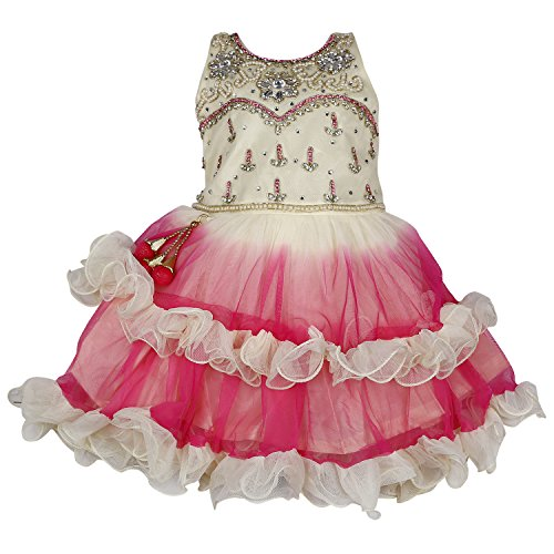 Wish Karo Baby Girls Party wear frock dress DN 2128 (2-3 Years)