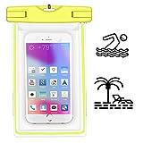 MPC Handy Schutzhüle - Für HiSense HS-U988 - Wasserdichte / Staubdichte Smartphone Beachbag - HBB Gelb