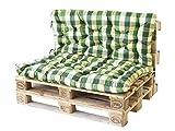 Ambient home Coussin à carreaux spéciaux pour Palette EVJE Vert 140 x 120 x 8 cm 90723