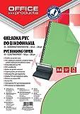 Office Products 20222015–02carátulas para encuadernar PVC, A4, 200g/m2, 100unidades), color verde y transparente