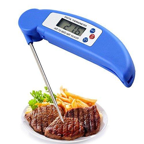 VersionTech Nouvel Thermomètre de Cuisine Thermomètres de nourriture Thermomètre Numé rique Sonde Cuisine avec une Lecture précise pour tous les liquides,la viande ,le grille ,BBQ,le lait ,le vin et l'eau du bain-Bleu