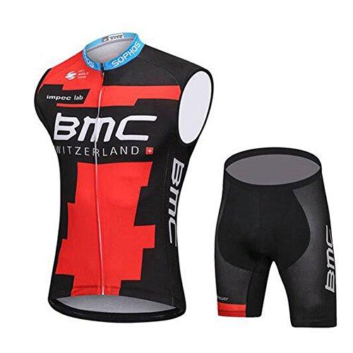 Beauty leader maglia da ciclismo senza maniche da donna con pantaloncini-tuta da ciclismo, quick dry, resistente agli ultravioletti, traspirante, pad 3d, 003, s