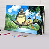 Pintura digital Diy Hayao Miyazaki Cartel de dibujos animados para colorear por números Pintura digital por números Pintura al óleo Diy, 40x50 cm