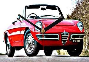 CC027 Alfa Romeo Duetto Spider ORIGINAL WALL CLOCK HORLOGE MURALE 20X15CM